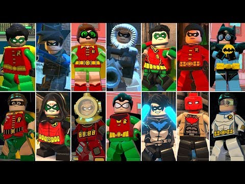 All Robin Characters & Suits In LEGO Videogames (DLC Included)