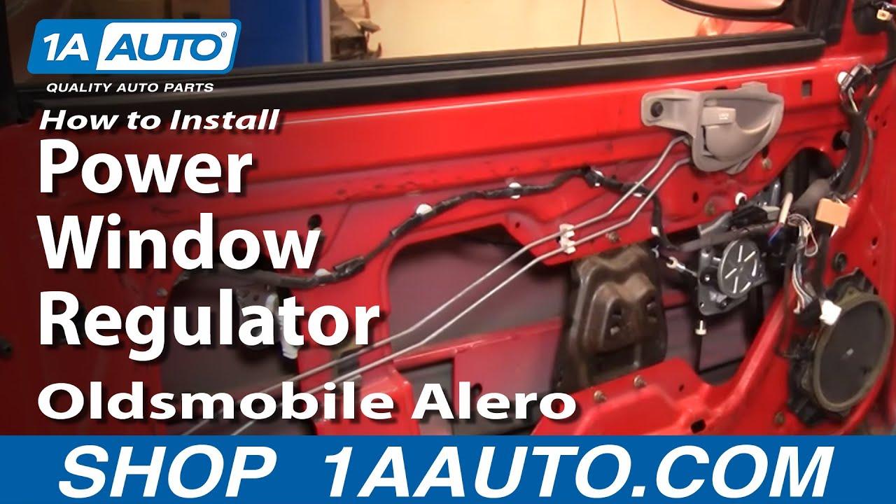How To Replace Window Regulator 99 04 Oldsmobile Alero