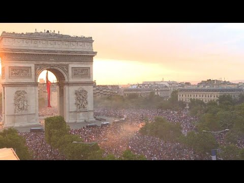 Jubel und Ausschreitungen nach Frankreichs WM-Sieg