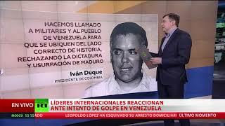 Líderes internacionales reaccionan ante intento de golpe en Venezuela