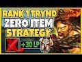 #1 TRYNDAMERE WORLD META-BREAKING STRATEGY (NO ITEM STRATEGY) - League of Legends