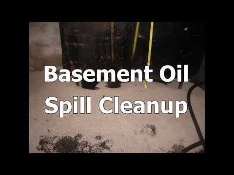 Basement Oil Spill Cleanup