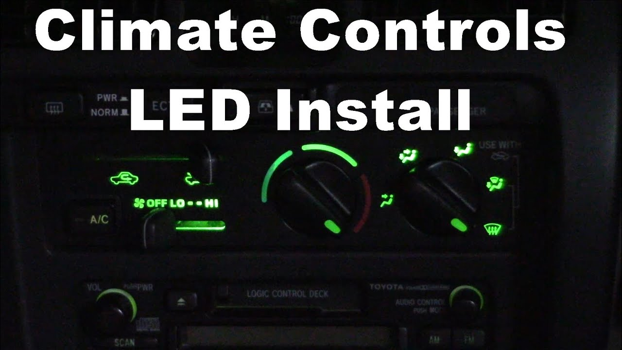 1999 Toyota 4runner 3rd Gen Climate Control Light Replacement Youtube