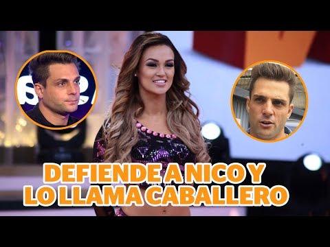 Angie Arizaga defiende a Nicola y lo llama caballero