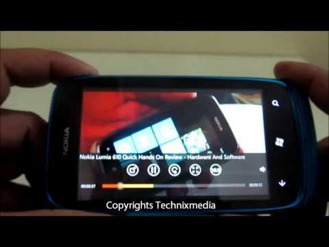 Nokia 610 HD Video Playback Quality