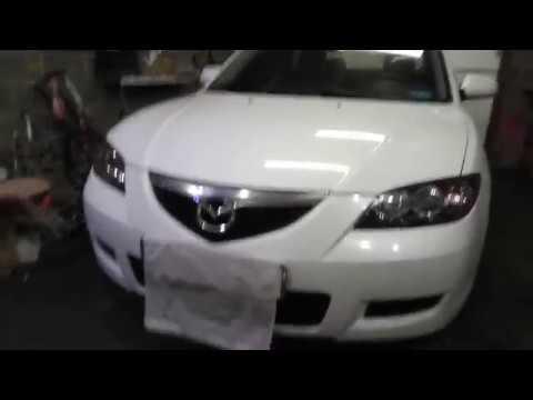 Mazda 3 Часть 2 , замена штатных линз , чистка фар