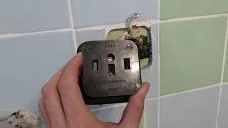 Подключение электроплиты с заменой старой розетки. Будни электрика.