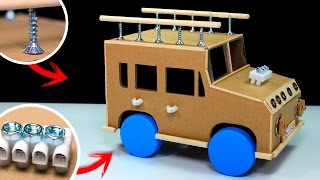How To Make A Powered Car | Electric Car Diy