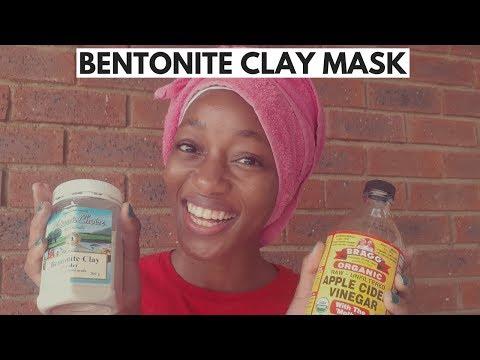 DIY BENTONITE CLAY MASK ON NATURAL 4C HAIR | SOUTH AFRICAN YOUTUBER