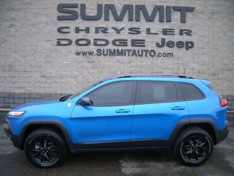 SOLD! 7J89A 2017 JEEP CHEROKEE TRAILHAWK HYDRO BLUE USED ...