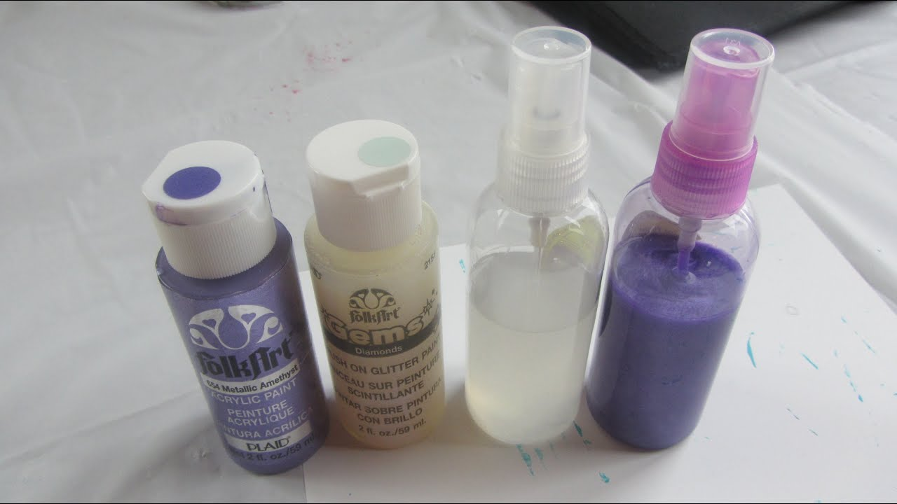 Making my own glimmer mist spray paint sprays craft for How to make your own spray paint