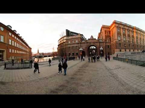360 VR Tour | Stockholm | Parliament House | Riksdagshuset | Outside | VR Walk | No comments tour