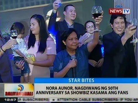 BT: Nora Aunor, nagdiwang ng 50th anniversary sa showbiz kasama ang fans