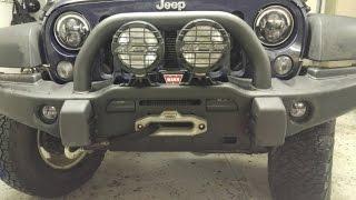 mopar   jw speaker led fog light install aev jk bumper