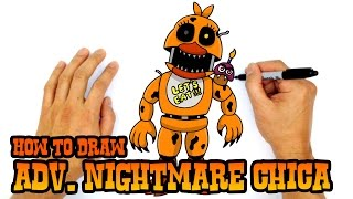 How to Draw Adventure Nightmare Chica | FNAF World