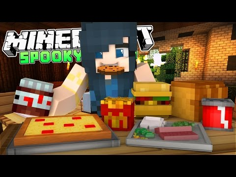 Minecraft Spooky Tales - SPOOKY HAUNTED FOOD (Minecraft Roleplay) #1