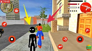 Amazing Spiderman Stickman Rope Hero 2020 Simulator Game / Gangster Stickman City