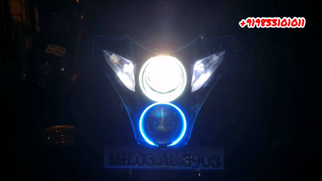 Pulsar 220 Dual Color Angel Eyes Xenon Light di Avmod - Youtube-3898