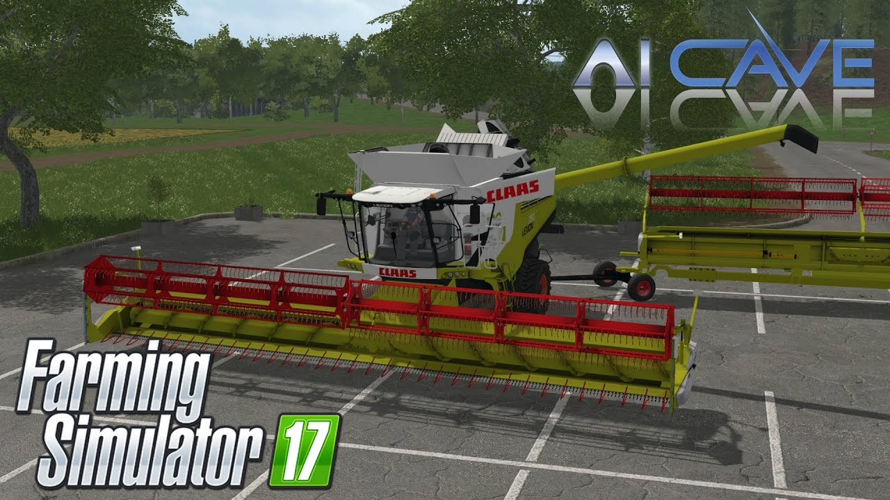 Farming Simulator 2017 Mods - Claas Lexion 780 TT Combine Harvester, 2  Headers & Trailer
