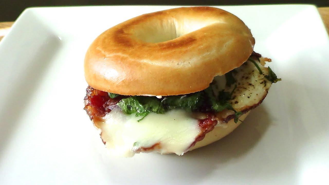 bagel breakfast sandwich bagel para tu desayuno youtube
