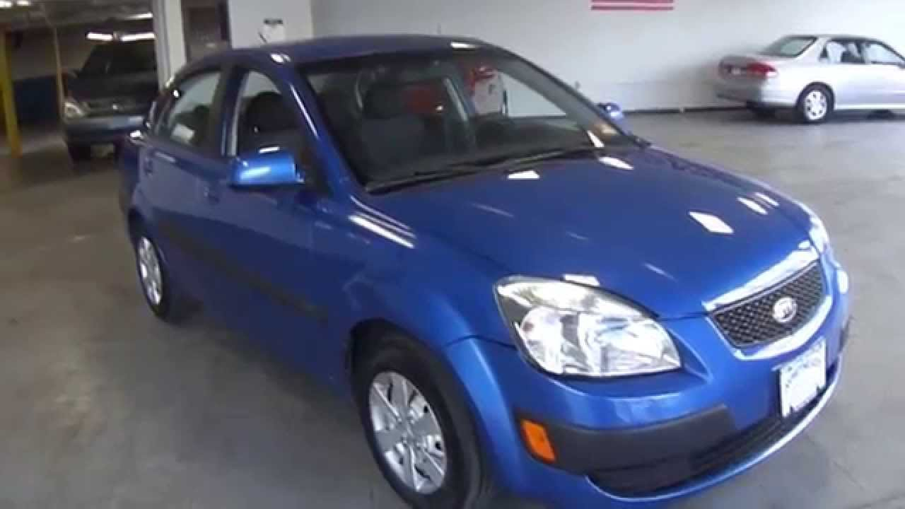 8926 2008 Kia Rio Lx Blue Northeast Motor Cars Nj Youtube