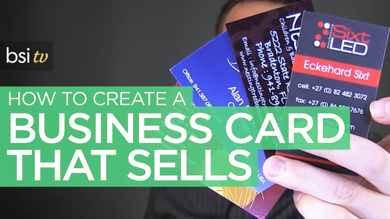 How to Design a Business Card that Sells & Makes You Money - YouTube