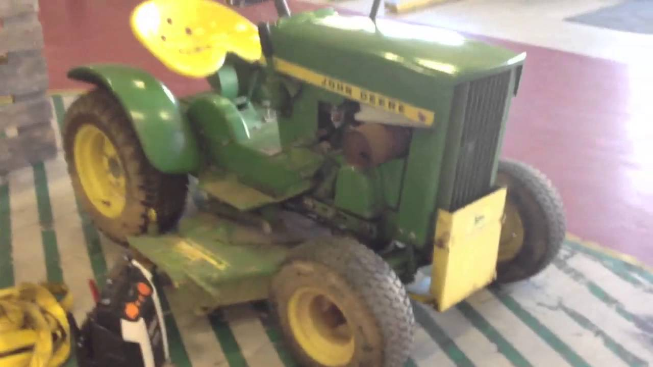Look What Finally Arrived  My John Deere 110  1967 Vintage Garden Tractor