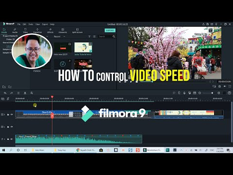 How to CONTROL VIDEO SPEED in Filmora 9