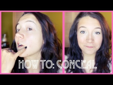 HOW TO: CONCEAL BLEMISHES (AND EASY MAKEUP LOOK)!! thumbnail