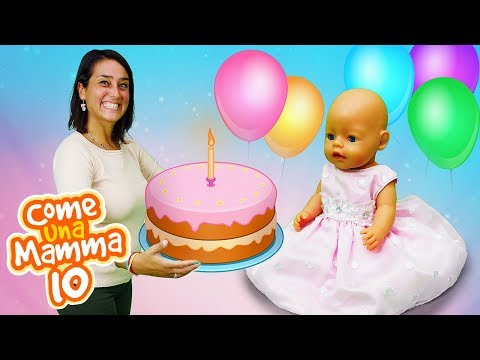 Video con i giocattoli. Buon Compleanno! Giochi per bambini con le bambole Nenuco
