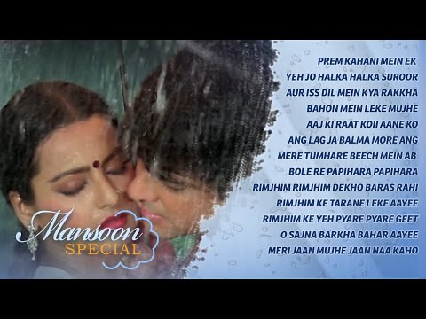 Monsoon Special Songs {HD} - Rain Songs Video Jukebox - Bollywood Romantic Songs
