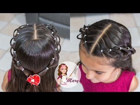 Peinado Con Ligas Para Ninas Cabello Corto Y Largo
