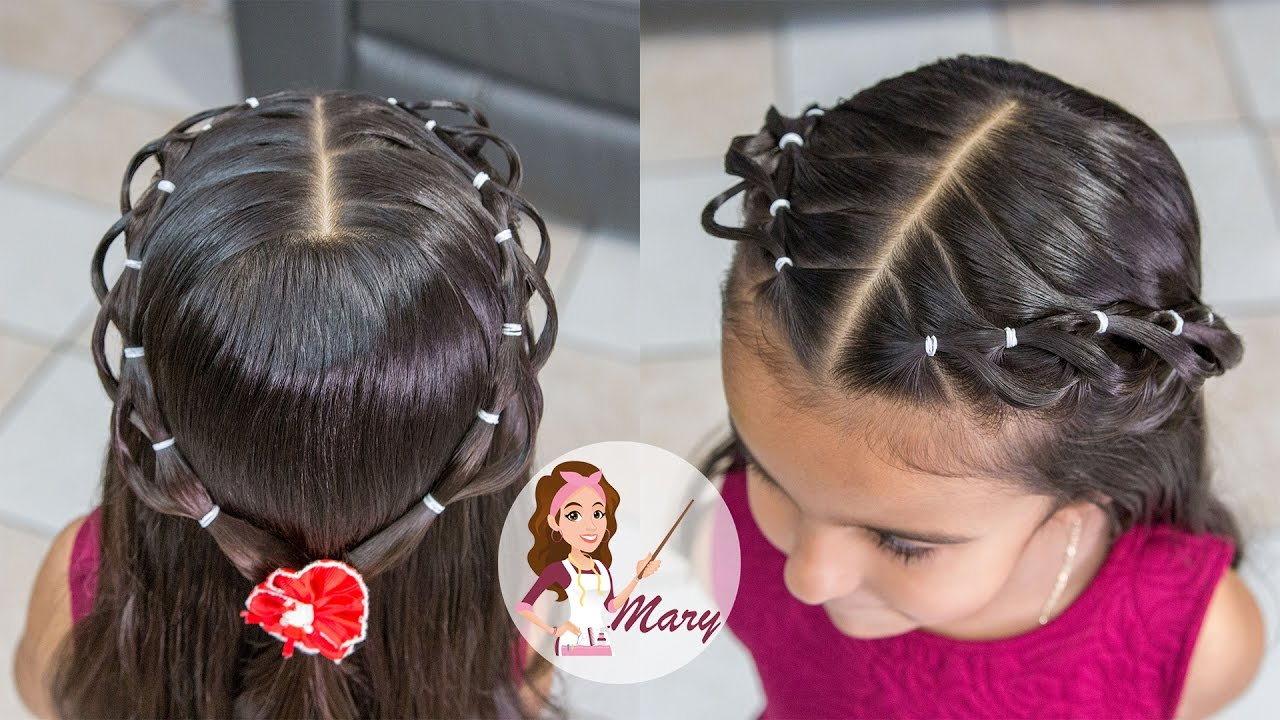 Peinado con ligas para ni as cabello corto y largo - Peinados nina pelo largo ...