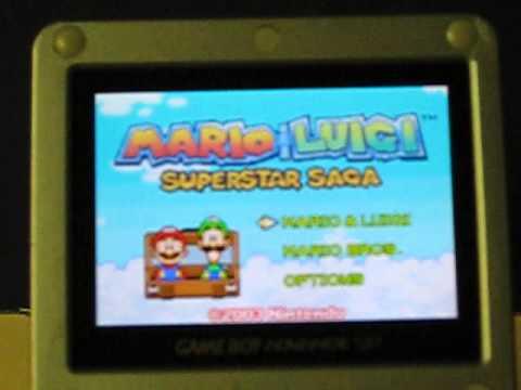 Sale Item Demo Game Boy Advance Mario And Luigi Superstar Saga