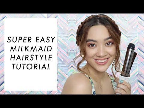 SUPER EASY MILKMAID HAIRSTYLE TUTORIAL | Aryanna Epperson
