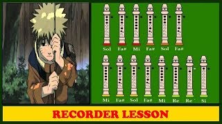 Naruto - Sadness and Sorrow【Recorder Notes Tutorial】