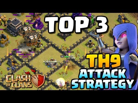 best th9 attack strategy post update top 3 town hall 9 attacks