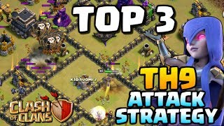 BEST TH9 ATTACK STRATEGY POST UPDATE | Top 3 Town Hall 9 Attacks | Clash of Clans