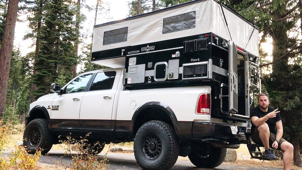 Taking A Tour Around The Ultimate Pop Up Truck Camper Youtube