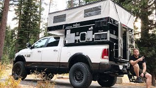 Taking A Tour Around The ULTIMATE Pop-Up Truck Camper
