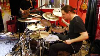 Carved In Ashes - Lost Wars - studio drum cam
