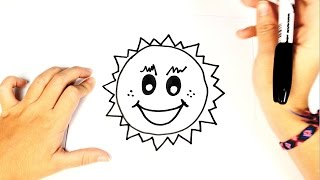 How to draw The Sun | Easy Sun Drawing Lesson Tutorial