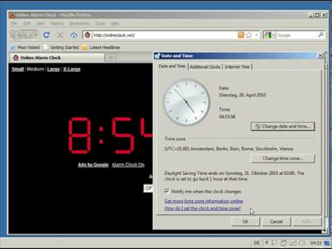 Time Server Sync - OnlineClock.net