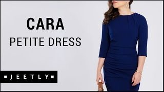 Petite Navy dress - Cara Navy tailored dress by Jeetly