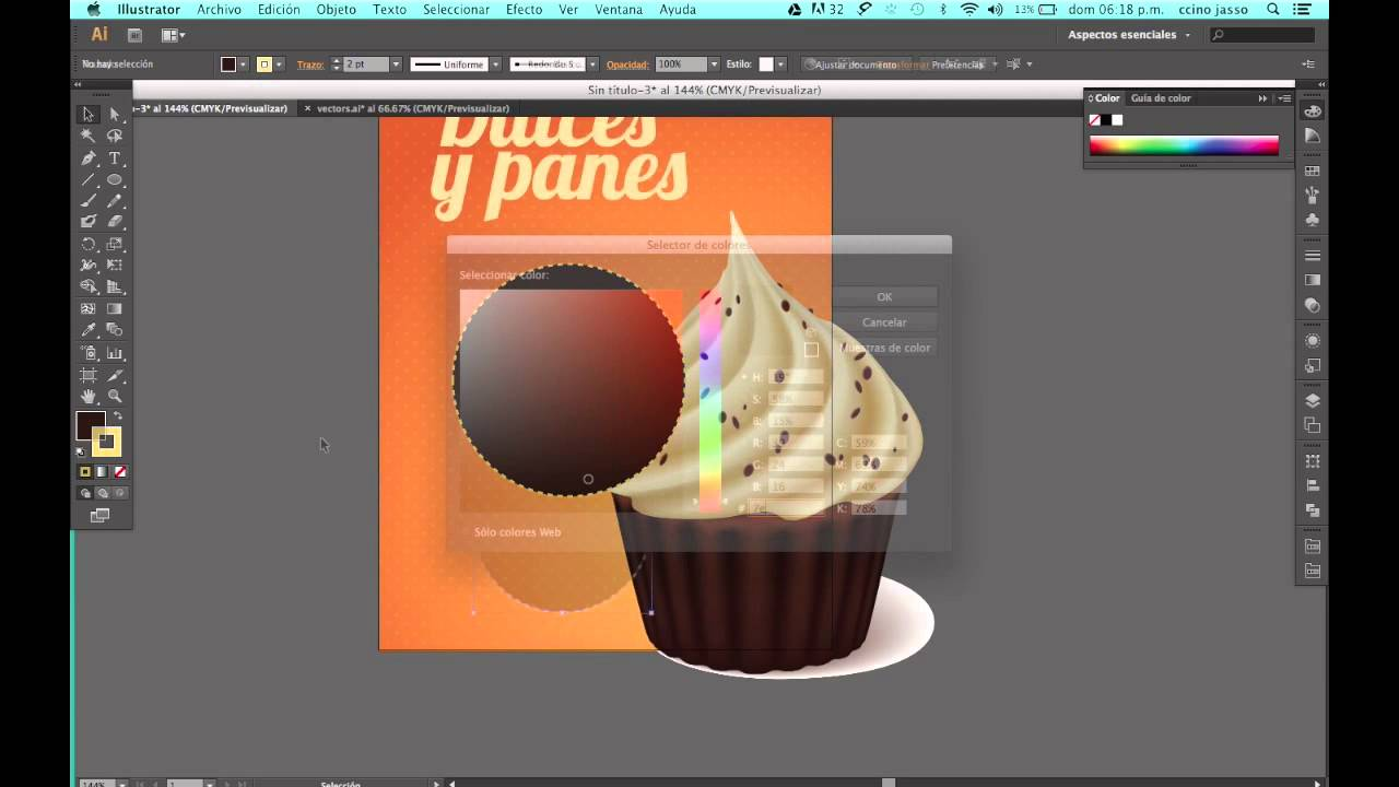 Como diseñar un volante creativo en a Adobe Illustrator - YouTube