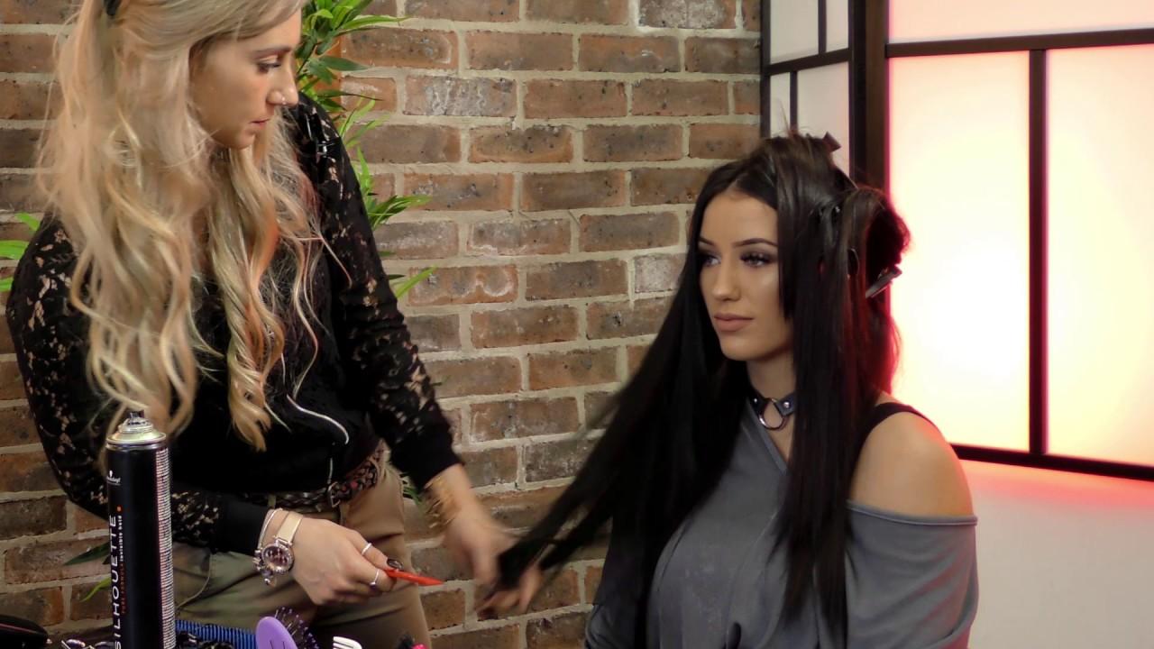 Jet Black Keratin Bond Hair Extensions Youtube