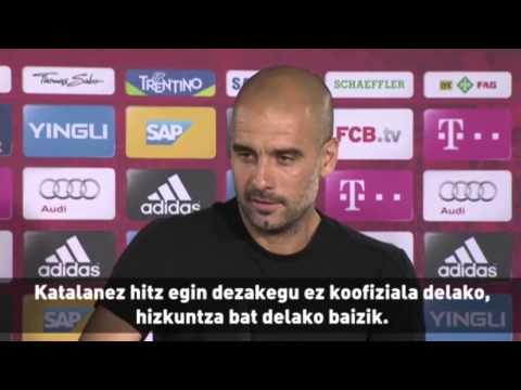 Pep Guardiola Gaizka Garitanoren defentsan