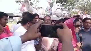 Mahua Moitra is on poll campaign at Krishnanagar on Sunday