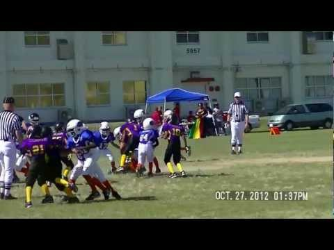 Joshua Glenn on defense okinawa youth football 9 yrs old #1