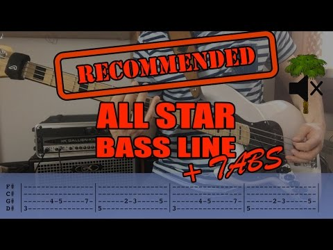 Smash Mouth - All Star /// Bass Line [Play Along Tabs]